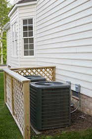 Air Conditioning Units in Back yard